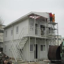 Cabines de maison préfabriquées à conteneur de 2 étages pour solution résidentielle
