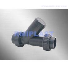 Válvula de retención de asiento de ángulo de PVC de plástico
