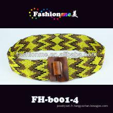 FashionMe 2013 nouvelle tendance élastique ceinture perlée