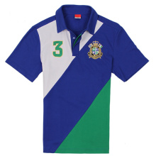 Nach Maß trockenes Stickerei-Druck-Baseball-Polo-Hemd
