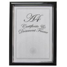 Черный с серебряной линией А4 пластиковый сертификат кадра