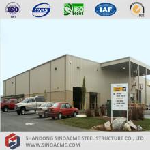 Centro de servicio de camiones de estructura de acero prefabricado