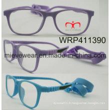 New Fashion Rubber Finish Rubber Temple Lunettes pour enfants Eyewearframe Optical Frame (WRP411390)