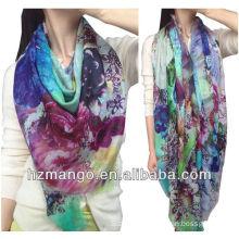 2016 Latest Fashionable Woman 100% Modal Digital printing Infinity scarf