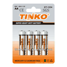 Tinko battery for 16years experience for heavy duty power R6P battery