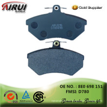 No asbesto, semi-metálico / cerámica / baja-metálico, ventas calientes autopartes fabricante chino 8E0 698 151 / D780