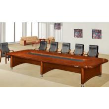 Rectángulo en forma de U de madera sólida con mesa de conferencia