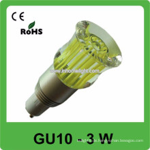 Qualität CE & ROHS 3w AC 85v-265v RGB führte Punktlicht gu10 Birne.