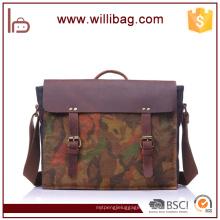 Camouflage Sac fourre-tout / Messenger Bag / Sacs à bandoulière pour hommes en cuir véritable