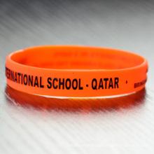 Custom silicon Factory bulk personalized bracelets beaded custom silicone bracelet