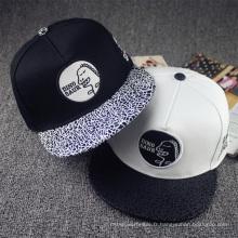 Personnaliser le chapeau plat de chapeau de chapeau à ras bord