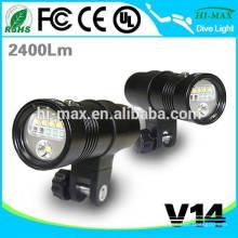 Tauchen Taschenlampe Wasserdicht 100 Meter Unterwasser LED Video Kamera Taschenlampe