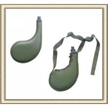 Botella de agua de palstic militar desierto con bolsa