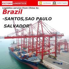 Контейнера 20ft/40 футов Доставка из Китая в Бразилию