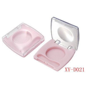 Square Light Pink Compact Powder Container
