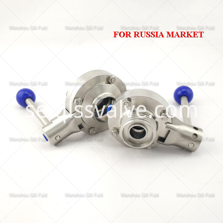 Sanitary stainless steel butterfly valve x97