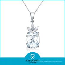AAA Großhandel Diamant Halskette Rhodium überzogene Halskette Schmuck (J-0121N)