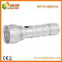 Factory Supply OEM EDC Metal Material 3AAA cellulaire 21led lampe LED en aluminium fabriqué en Chine
