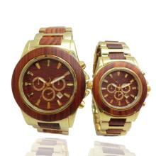 Hlw096 OEM montre en bois des hommes et des femmes montre en bambou de haute qualité montre-bracelet