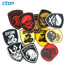 Factory wholesale price rubber label for clothing custom 3D silicone logo tag soft pvc patch