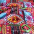 Вискозная ткань с принтом в креп-стиле для женских рубашек / платьев