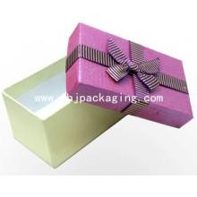 Caixa de presente de embalagem rígida de luxo com fita