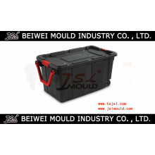 Plastic Storage Wheeled Container Tote Rugged Industrial Lid Box Mould
