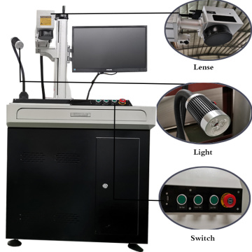 50w Desktop CNC Laser Metal Ball Pen Laser Marking Machine