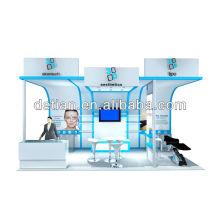 stand de stand d'exposition cosmétique modulaire fabriqué à Shanghai et export à l'étranger