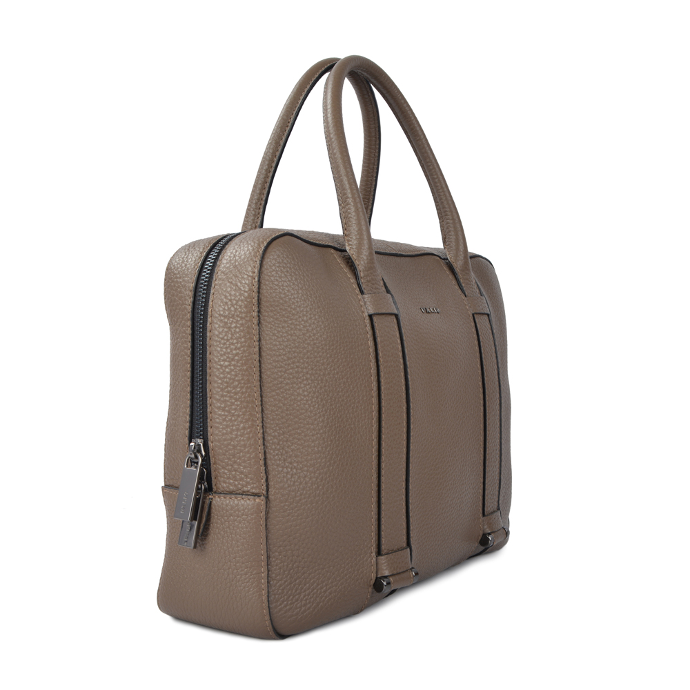 business men genuine leather briefcase bag
