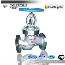 Gost padrão de aço inoxidável flange final globe valve fabricante