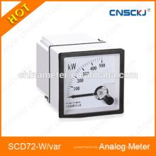 Medidor de panel analógico SCD72-W-var metros activos y reactivos