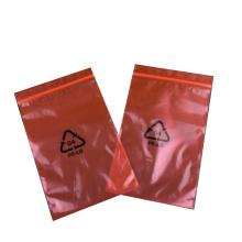 ESD Red Antistatic PE Zipper Printed Bags