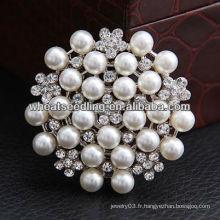 Fleur demoiselle d'honneur Fleur de mariage Pierres de perles broches Broches BH36