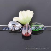 Forme de goutte de mode enduit cristal perles pour bijoux