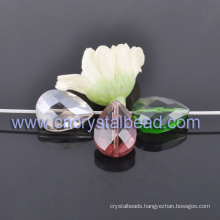 Fashion Teardrop Shape Coating Faceted Crystal Glass Beads For Jewelry