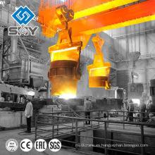 Grúa de cucharón para trabajos pesados de fundición de acero de servicio pesado 75 / 20ton