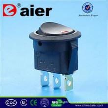 Daier 12V LED iluminado Dot Rocker Switch T85