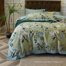 Home Decoration High Quality Bedding Cotton Fabric Soft for Double Bed Sheet Set