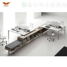 Fashionable Unique L Shaped Office Partition Office Furniture (HY-248)