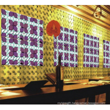 Purple Red Crystal Glass Mirror Mosaic for Wine Bar