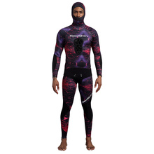 Seaskin Neoprene Camouflage 2-Pieces Freediving Wetsuits