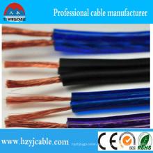 Heißer Verkaufs-transparenter PVC 2 Kernlautsprecher Cable2 * 3.5mm2 Stereolithographie-Lautsprecherkabel