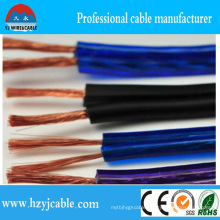 Hot Sale Transparent PVC 2 Core Speaker Cable2* 3.5mm2 Stereo Audio Speaker Cable
