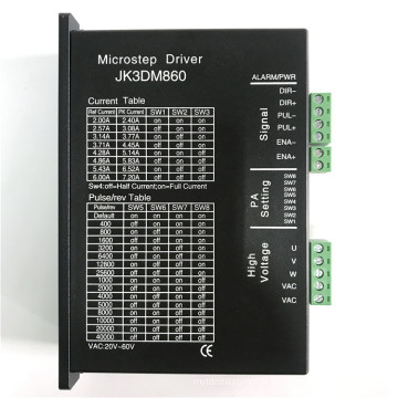 stepper motor driver for 3phase 86mm stepper motor with 20~80VAC input and 2.0~6.0A output current