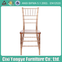 Crystal Plastic Resin Tiffany Chair for Wedding Party