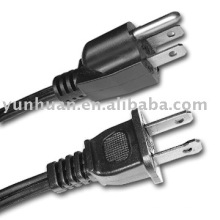 Cordon d'alimentation UL ensemble de câbles secteur Ac cable STW 10awgx3c 12awg/3C 12 * 3 type US style