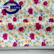 print polyester spandex knit twill fabric for spring lady dress