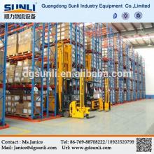 2015 quente vendendo Q235b armazém de aço fábrica corredor estreito armazenagem porta palete