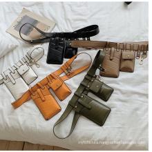 Factory Custom Bag Black White  Orange Brown Color leather  Bag